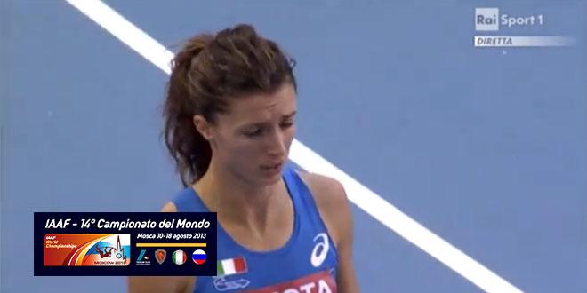 Campionati del Mondo di Mosca 2013 - Batteria 400m Femminile Chiara Bazzoni