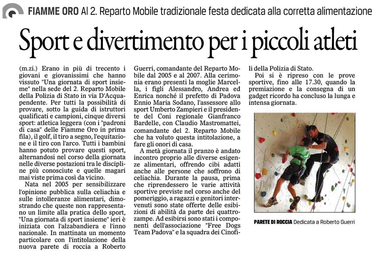 Una Giornata di Sport Insieme Il-Gazzettino-16-09-13