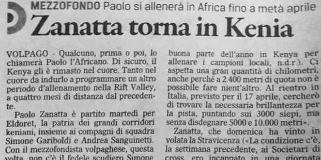 Raduno Kenya Articolo Paolo Zanatta