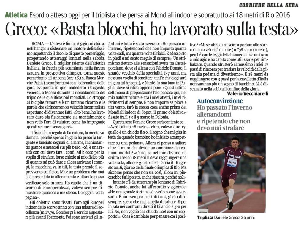 Daniele Greco - Corriere della Sera 01_02_14