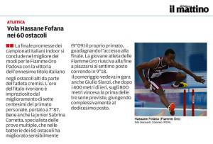Hassane Fofana Il Mattino di Padova10-02-14