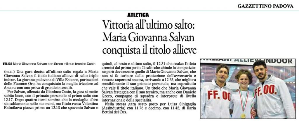Maria Salvan Il Gazzettino di Padova 17_02_14
