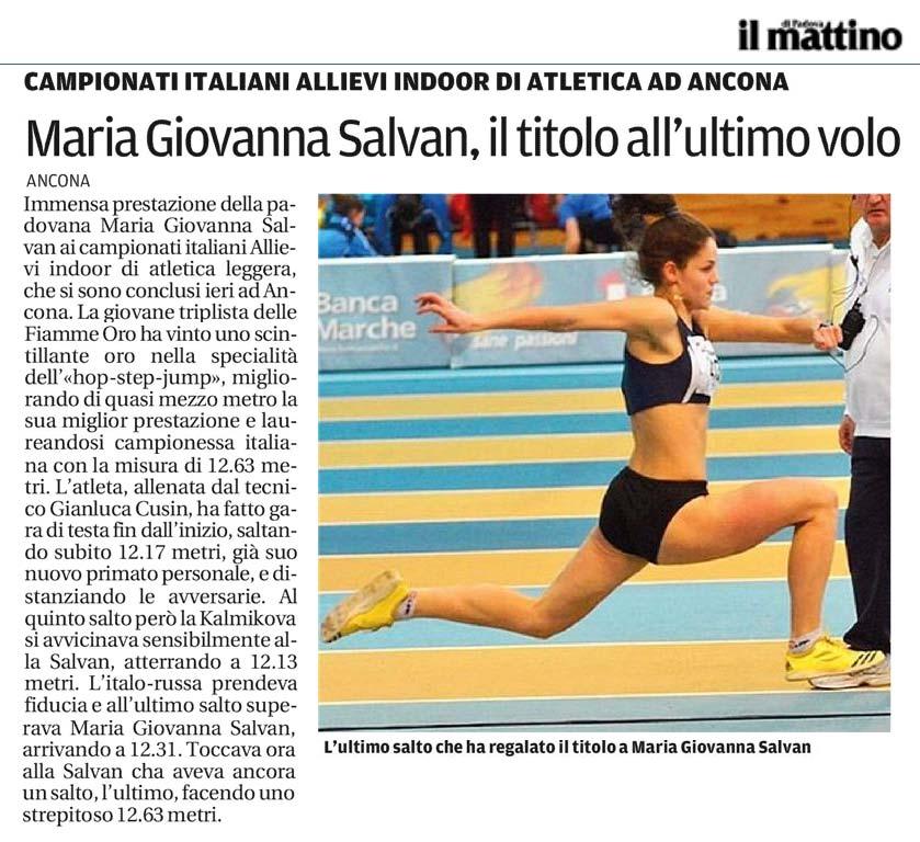 Maria Salvan Il Mattino di Padova 17_02_14