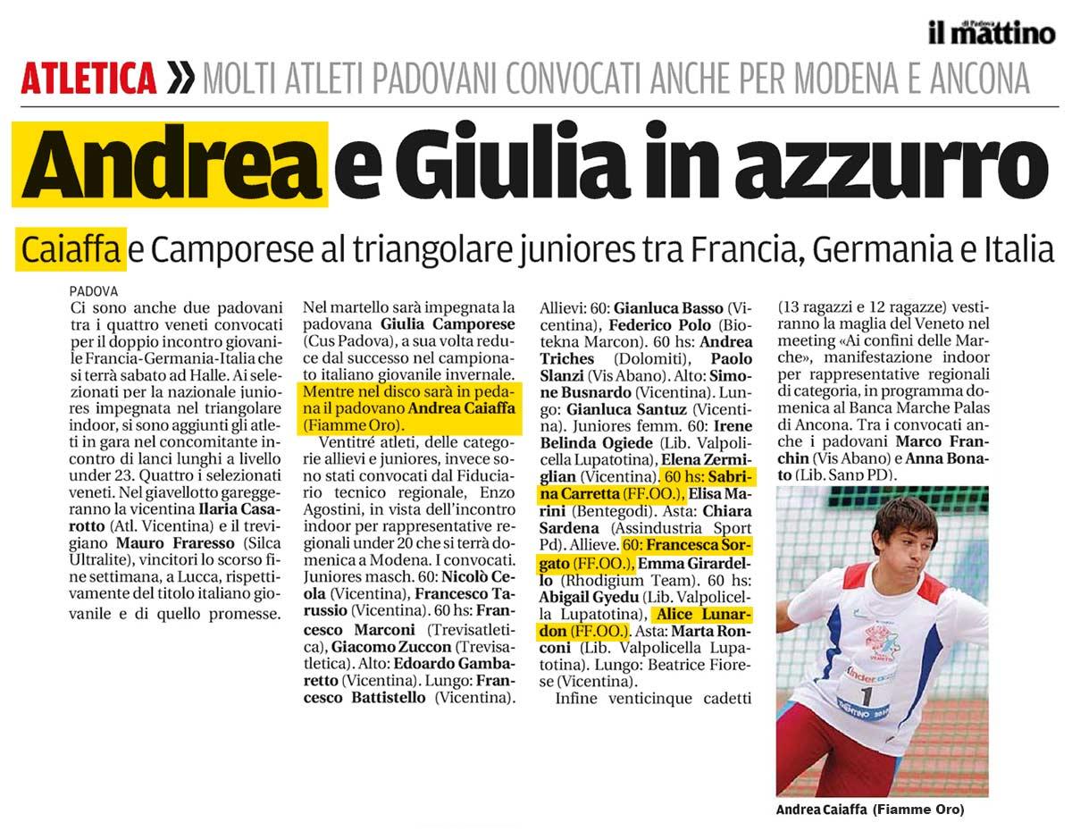 Andrea Caiaffa - il Mattino 27-02-14