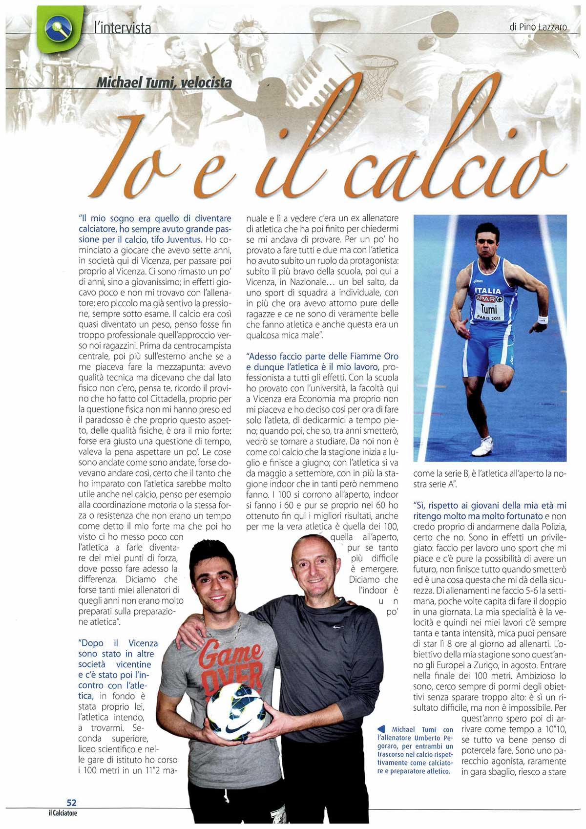 Michael Tumi - Il Calciatore - Fiamme Oro Atletica