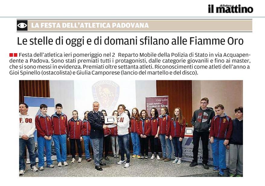Il Mattino_23-03-14 - Fiamme Oro Atletica