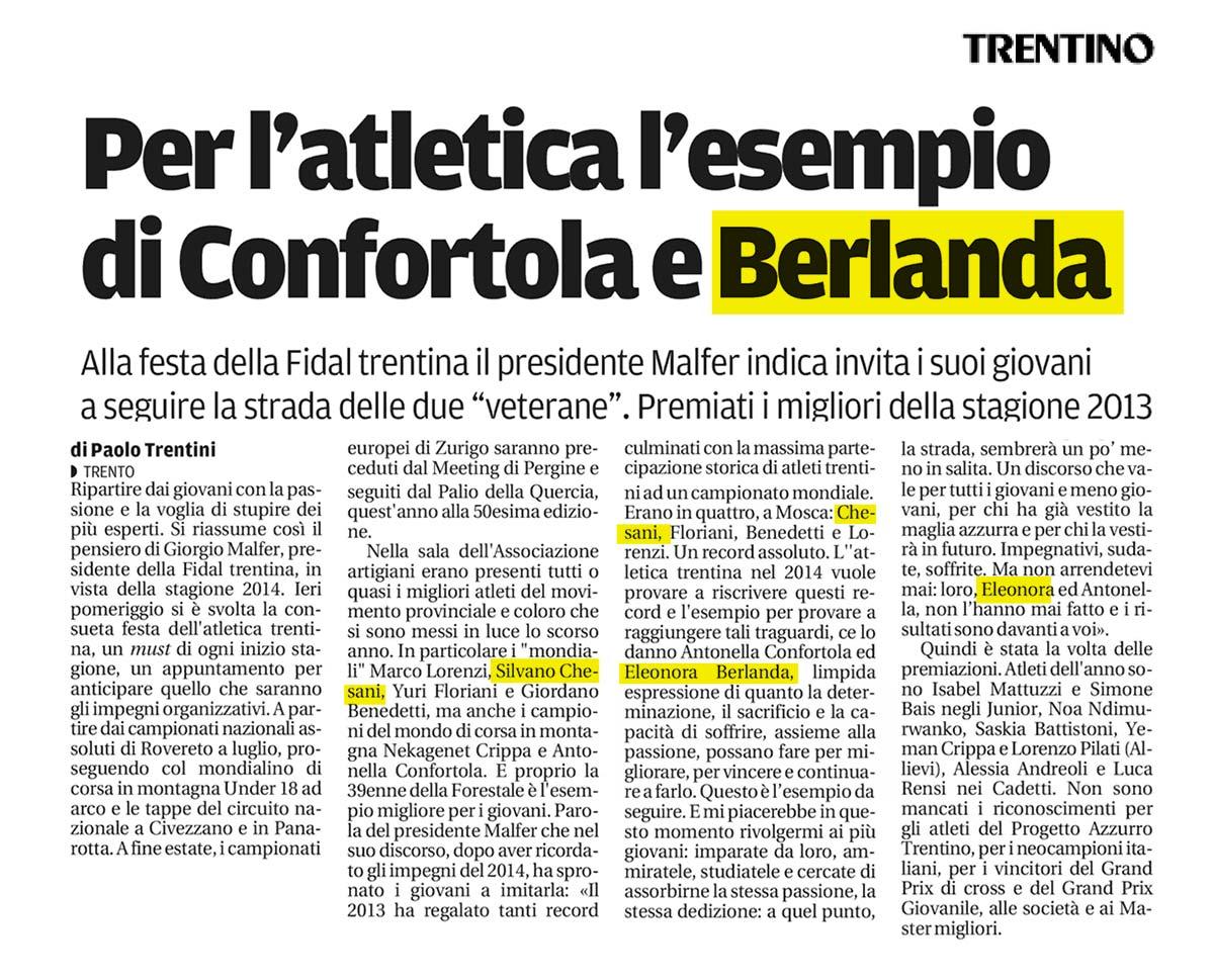 Trentino 23_03_14 - Fiamme Oro Atletica