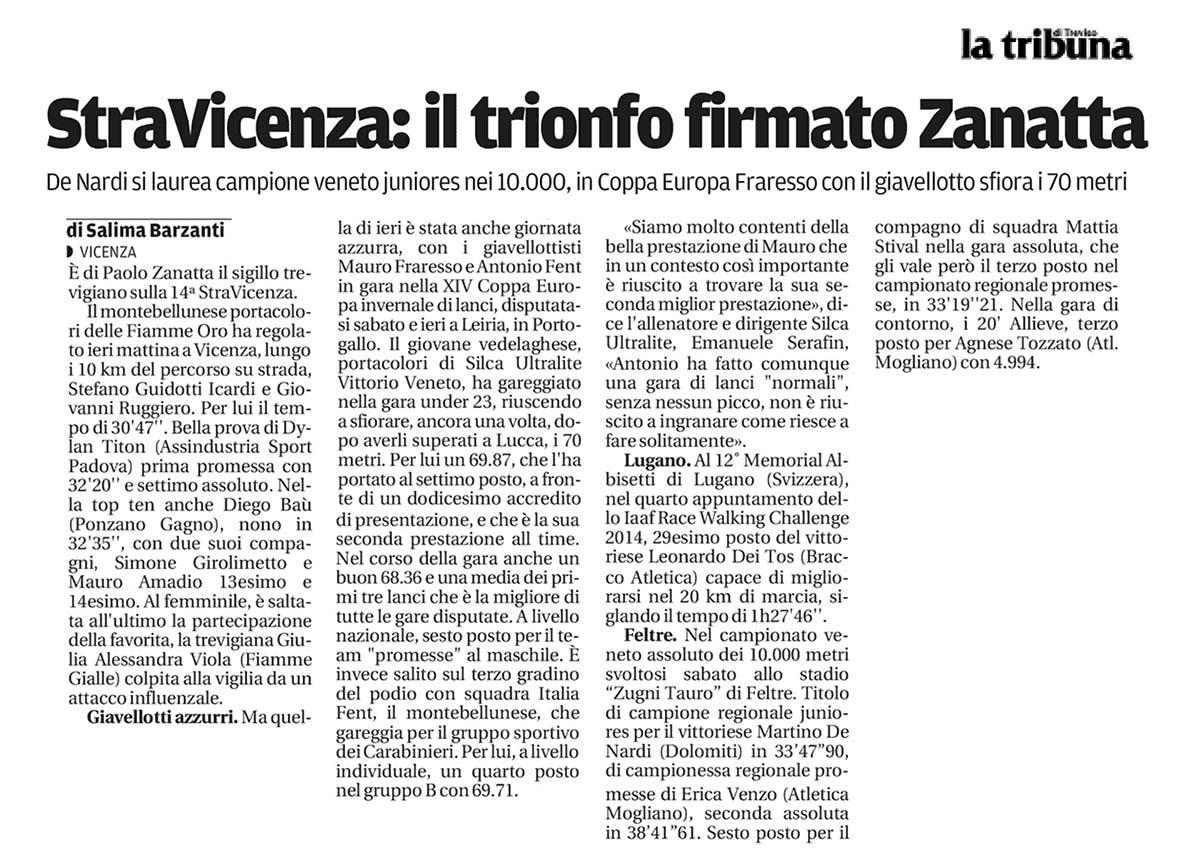 Paolo Zanatta - Tribuna Treviso17-03-14