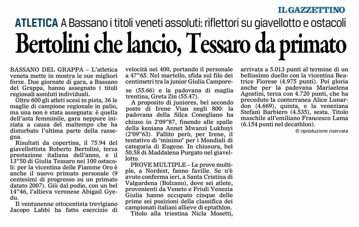 Gazzettino 30 06 2014
