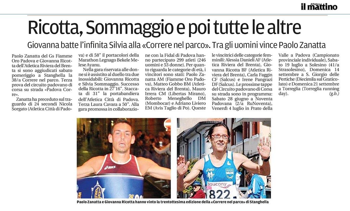 Paolo Zanatta Il Mattino 16 06 2014
