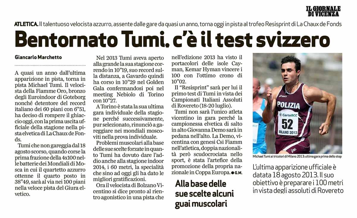 Giornale Vicenza 06 07 14