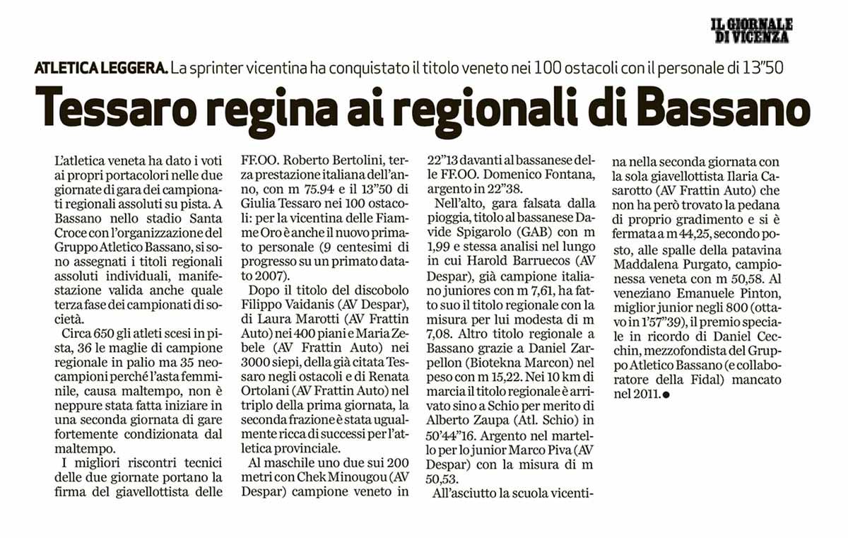 Il Giornale Vicenza 01 07 14