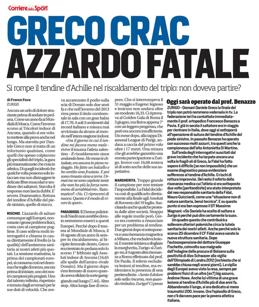 Corriere Sport 13 08 14