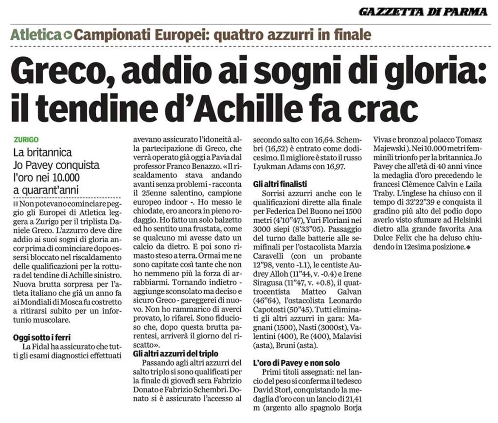 Gazzetta Parma 13 08 14