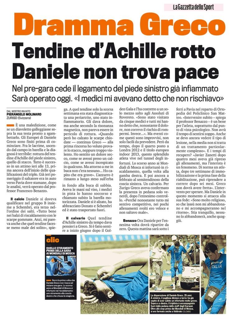 Gazzetta Sport 13 08 14