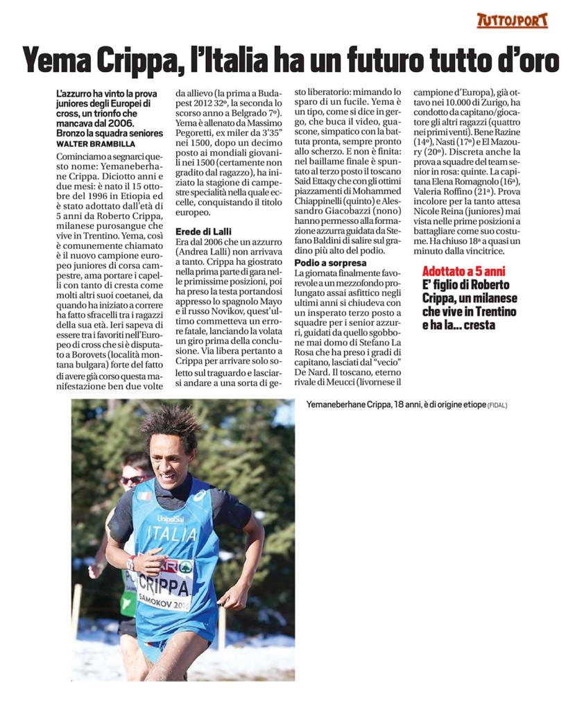 tuttosport151214 - Fiamme Oro Atletica