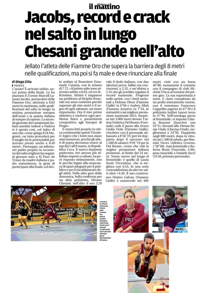 2015_2_23_Il-Mattino Padova - Fiamme Oro Atletica