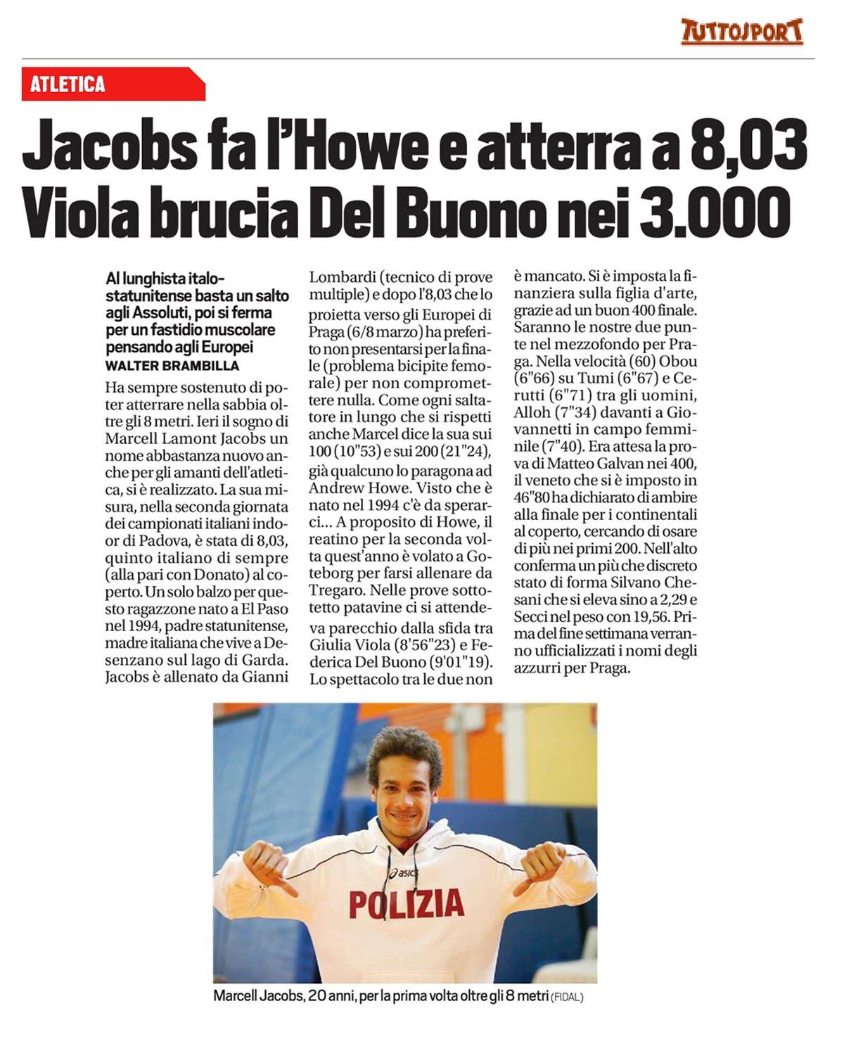 Tutto Sport 23 02 15 - Fiamme Oro Atletica