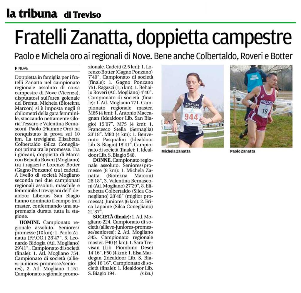 La Tribuna Treviso 02 03 15 - FIAMME ORO ATLETICA