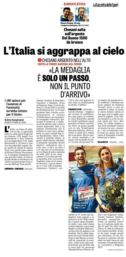 La Gazzetta dello Sport - 09 03 2015