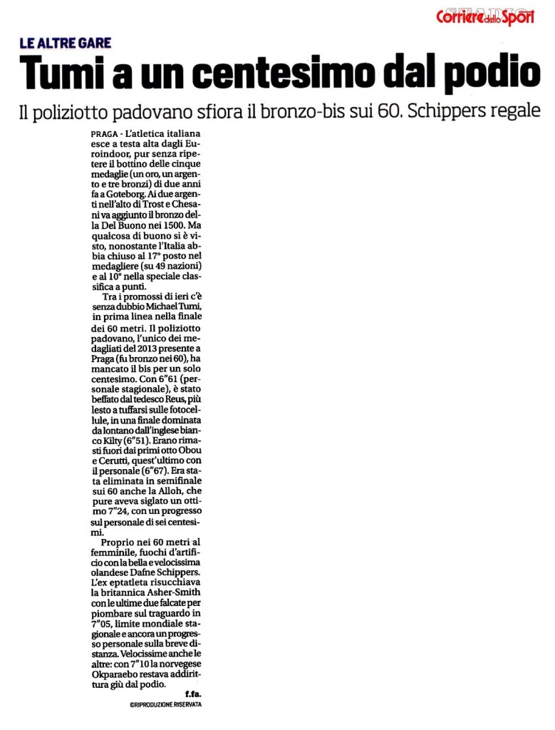 Il Corriere dello Sport Stadio - 09 03 2015